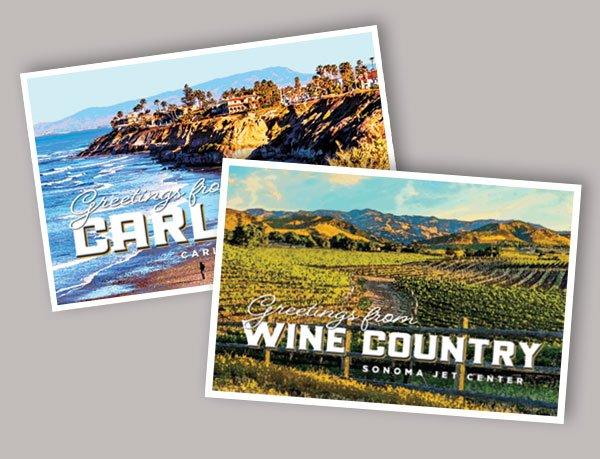 Sonoma Jet Center Post Cards