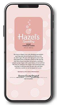 Hazel's Sparkling Soda Website