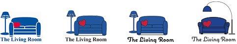 The Living Room Logo Development