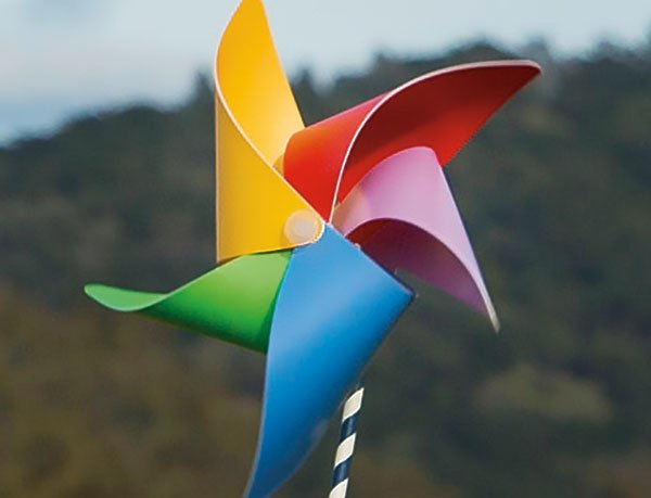 Pinwheel made by Sonoma County Day School Students