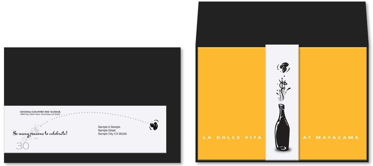 La Dolce Vita Fundraising Event Invitation and Envelop