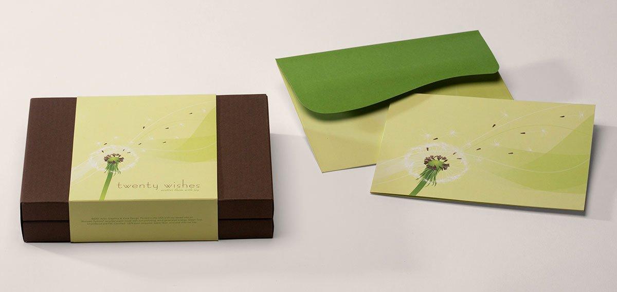 Twenty Wishes Stationery Packaging
